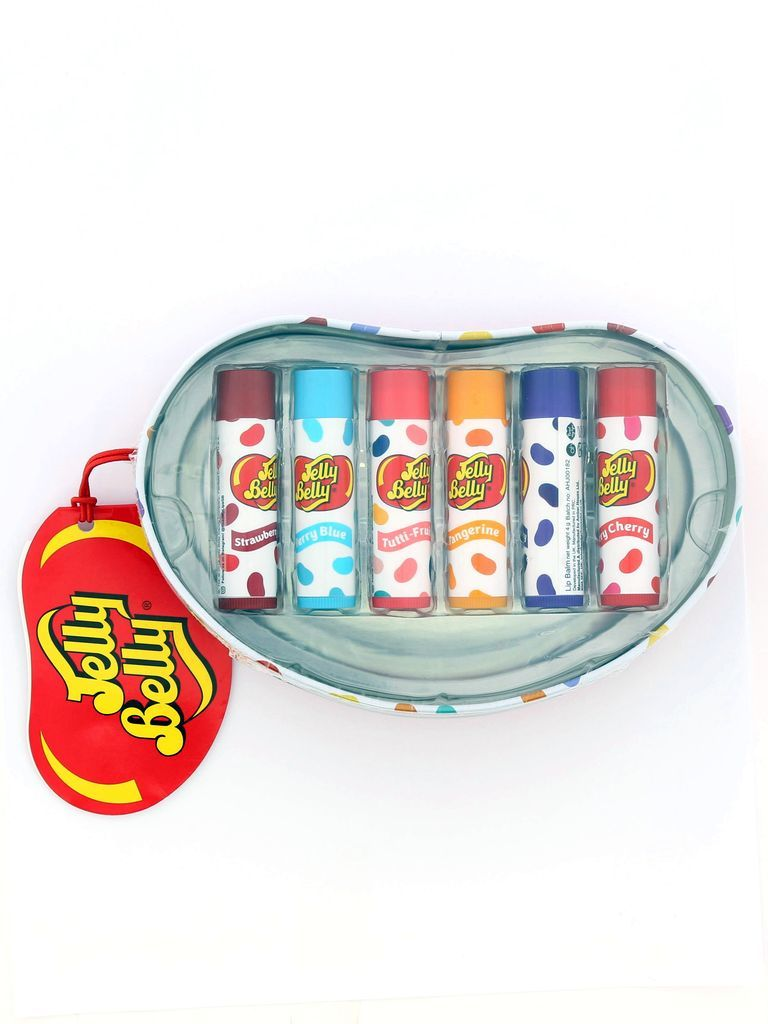 JELLY BELLY SET OF 6 FLAVOURED LIP BALM TIN (24G)-0