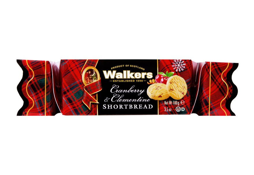 WALKERS CRANBERRY & CLEMENTINE SHORTBREAD CHRISTMAS CRACKER (100G)-0