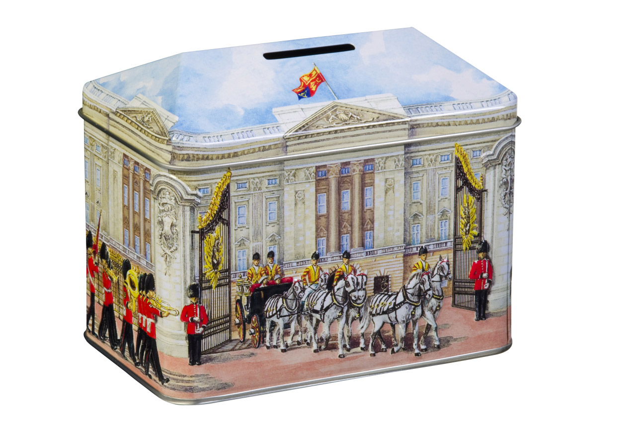 Churchill's Buckingham Palace Money Box with Toffees (200g)-7115