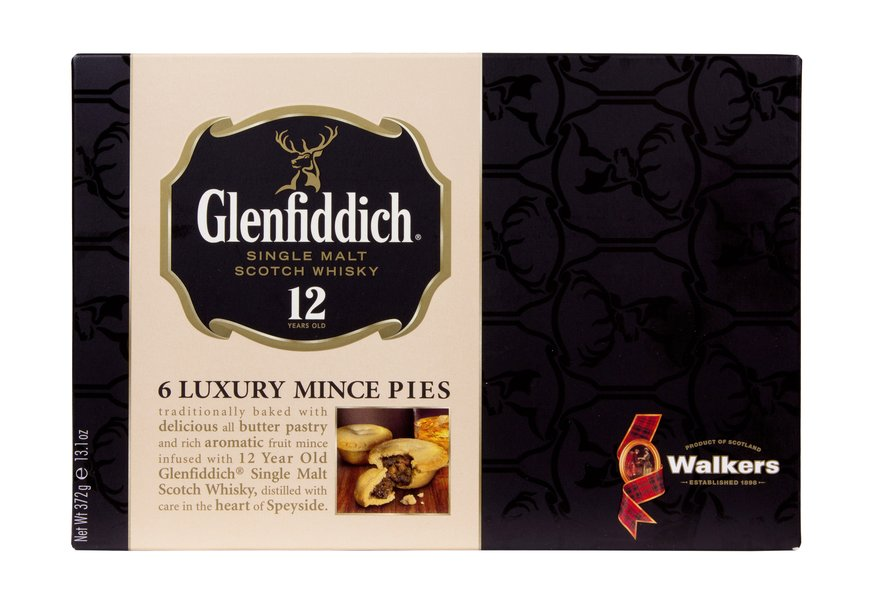 WALKERS GLENFIDDICH WHISKY 6 LUXURY MINCE PIES (372G)-0