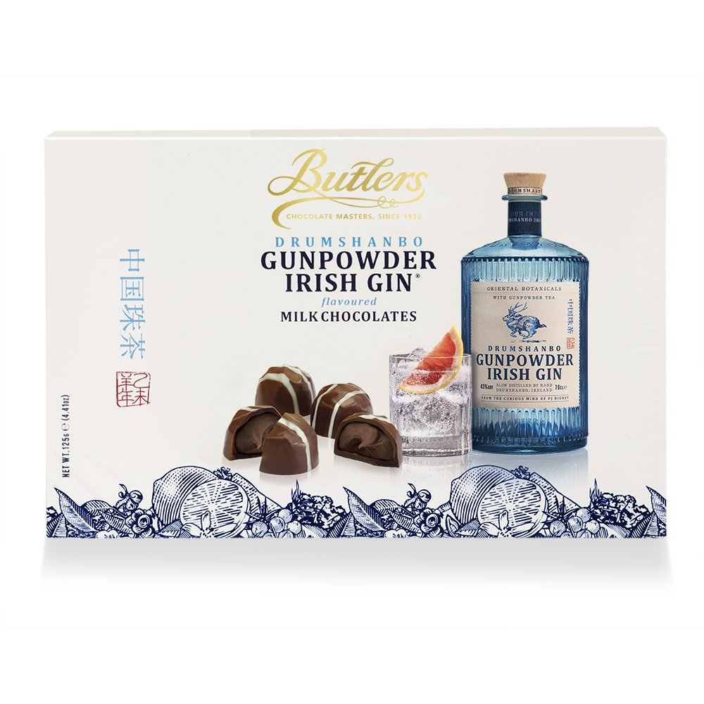 BUTLERS DRUMSHANBO GUNPOWDER IRISH GIN ® MILK CHOCOLATE TRUFFLES (125G)-0