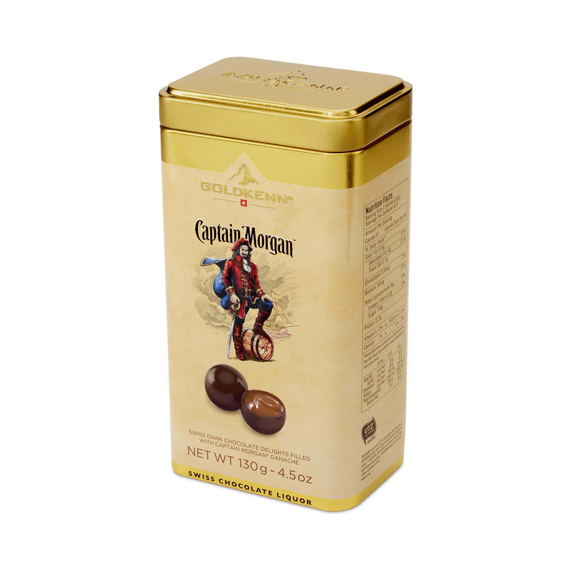 GOLDKENN CAPTAIN MORGAN CHOCOLATE LIQUEUR DELIGHTS TIN (130g)-0