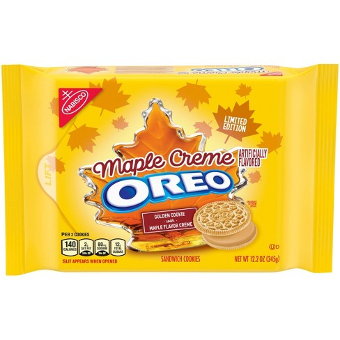 OREO MAPLE CREME LIMITED EDITION SANDWICH COOKIES (345G)-0
