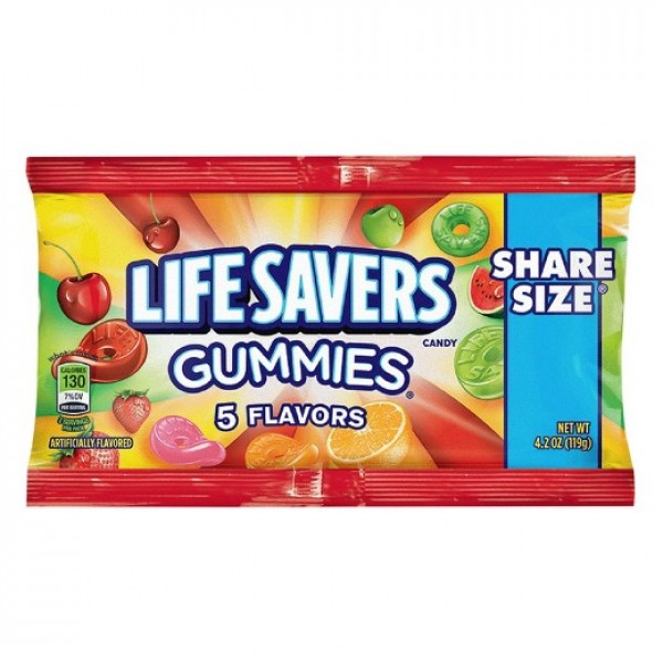 Life savers 5 Flavours Gummies Share Size Pack (119G)-0