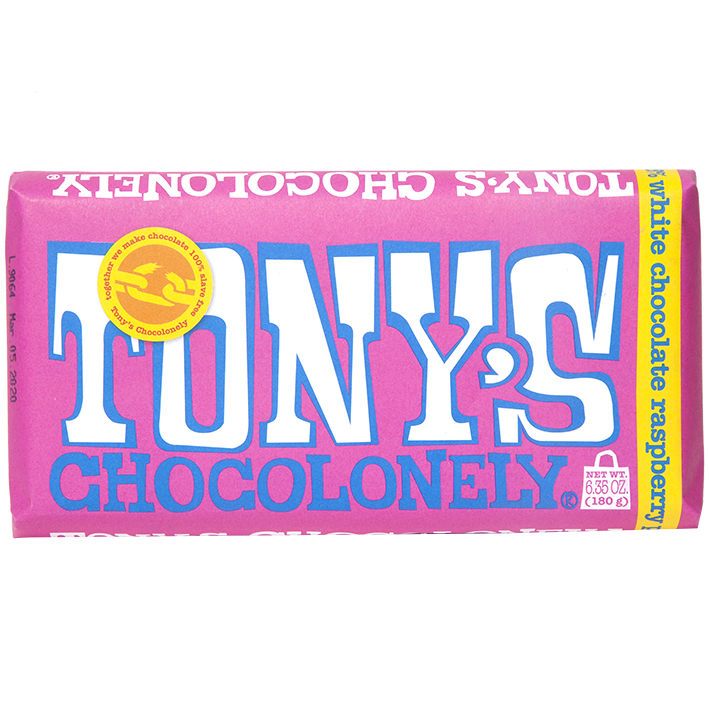 Tony's ChocolonELY WHITE CHOCOLATE RASPBERRY POPPING CANDY (180G)-0