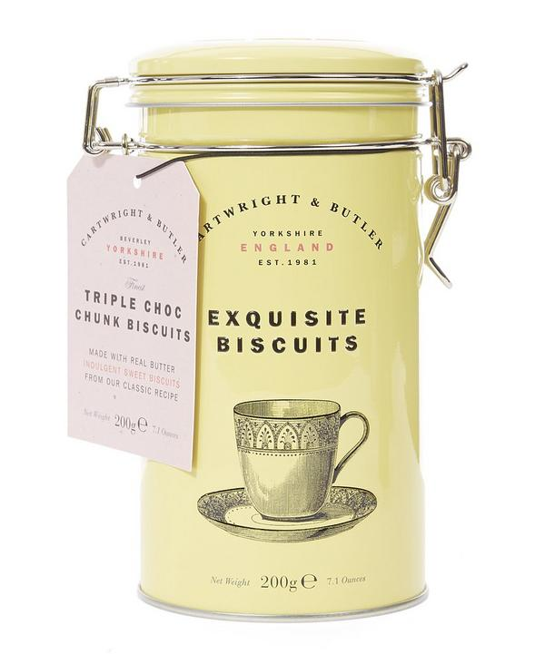 CARTWRIGHT & BUTLER Exquisite Biscuits Triple Chocolate Chunk TIN (200G)-0