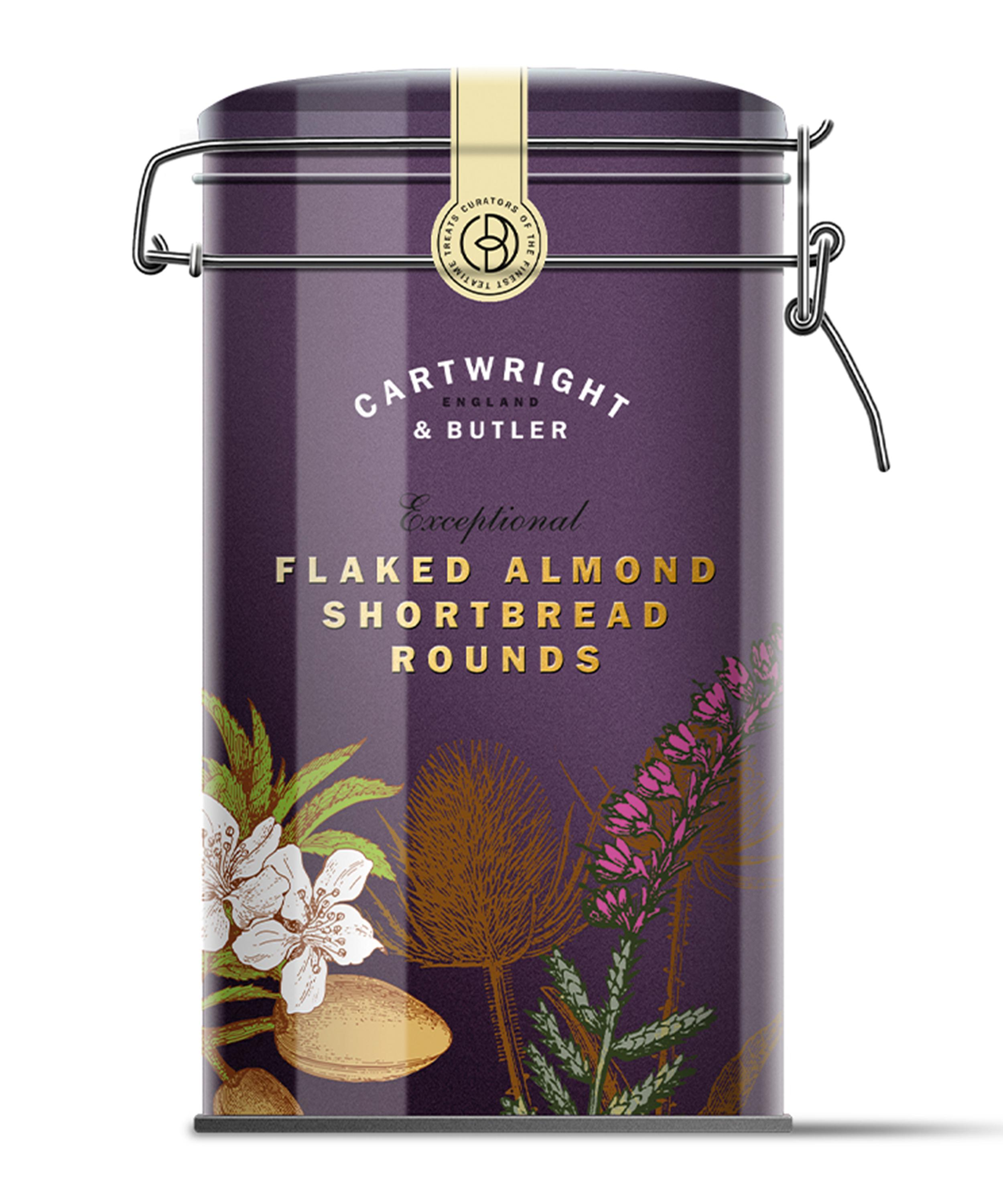 CARTWRIGHT & BUTLER FLAKED ALMOND SHORTBREAD ROUNDS TIN (200G)-0