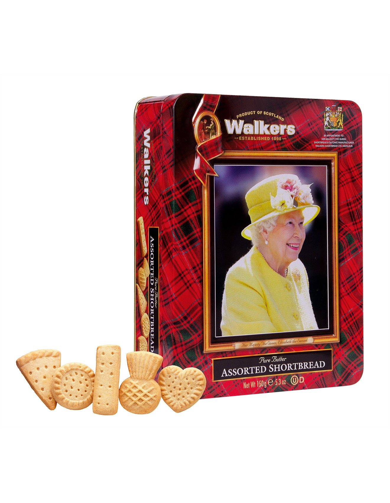 "Walkers Assorted Shortbread ""Queens Royal"" Tin (150G)-0"