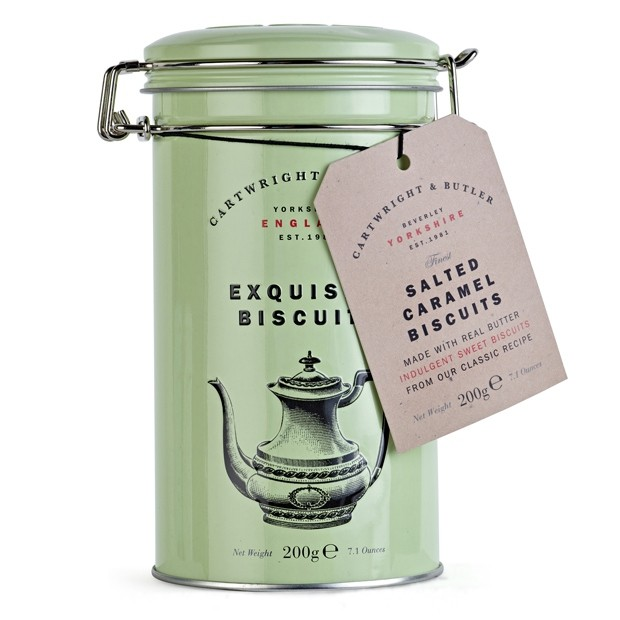 CARTWRIGHT & BUTLER Exquisite Biscuits SALTED CARAMEL TIN (200G)-0