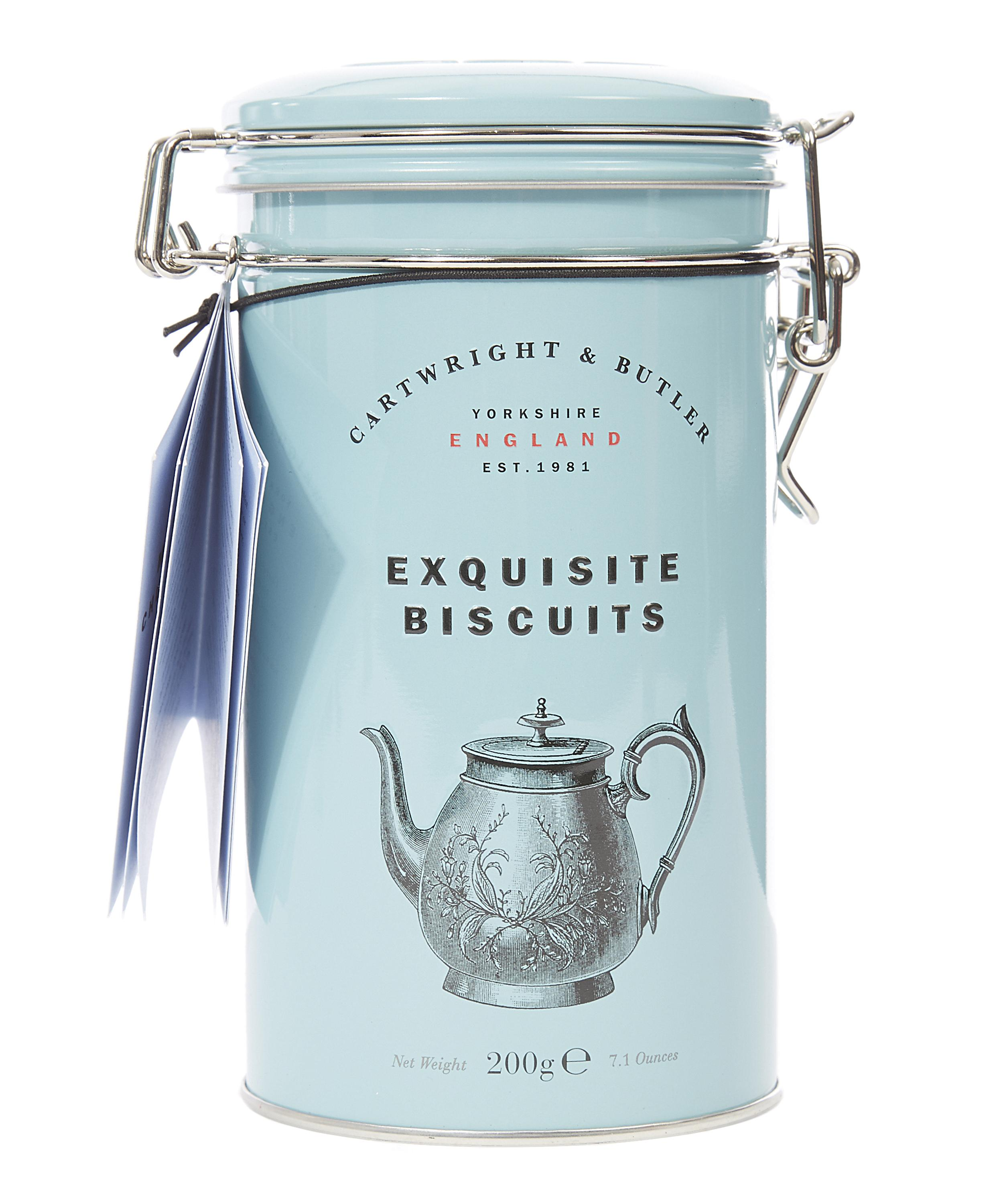 CARTWRIGHT & BUTLER Exquisite Biscuits Milk Chocolate Chunk TIN (200G)-0