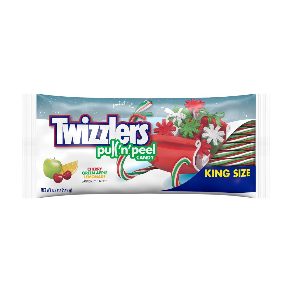 TWIZZLERS PULL 'N' PEEL CHRISTMAS CANDY KING SIZE (119G)-0