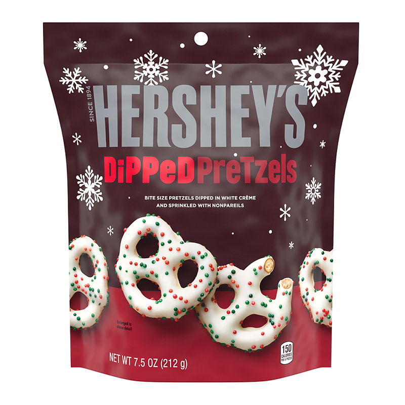 Hershey's Dipped Pretzels - White Creme w/ Sprinkles (212g)-0