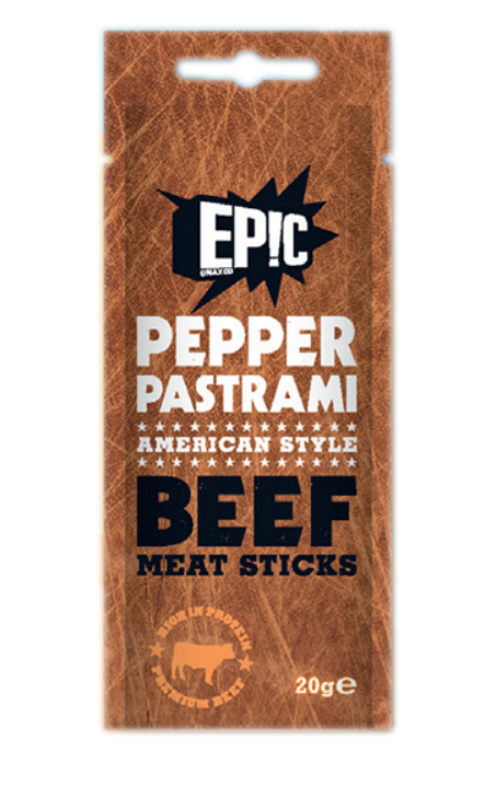 EPIC PEPPER PASTRAMI BEEF MEAT STICKS (20G)-0
