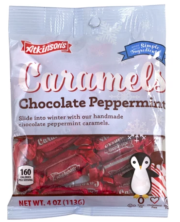 Atkinson's CHOCOLATE PEPPERMINT CARAMELS (113G)-0