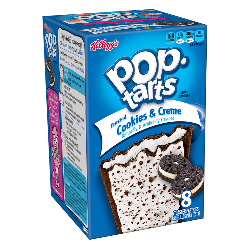 KELLOGG'S POP TARTS FROSTED COOKIES & CREME (400g)-0