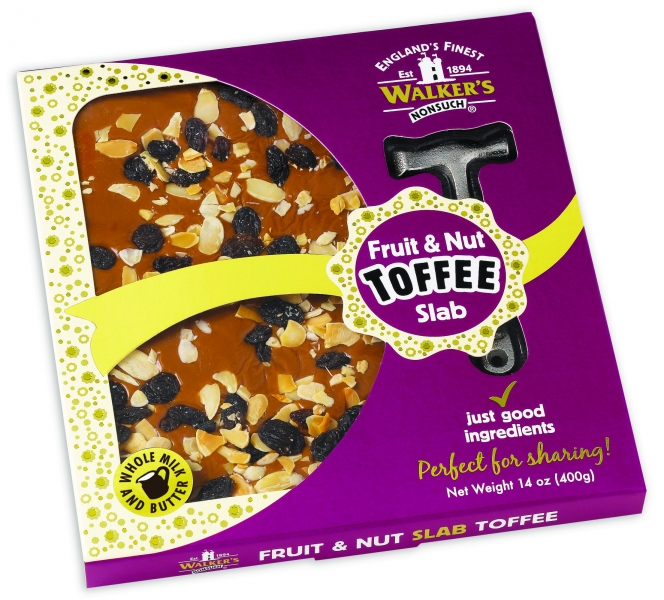 Walker's Nonsuch Fruit & Nut Toffee Slab (400g)-0