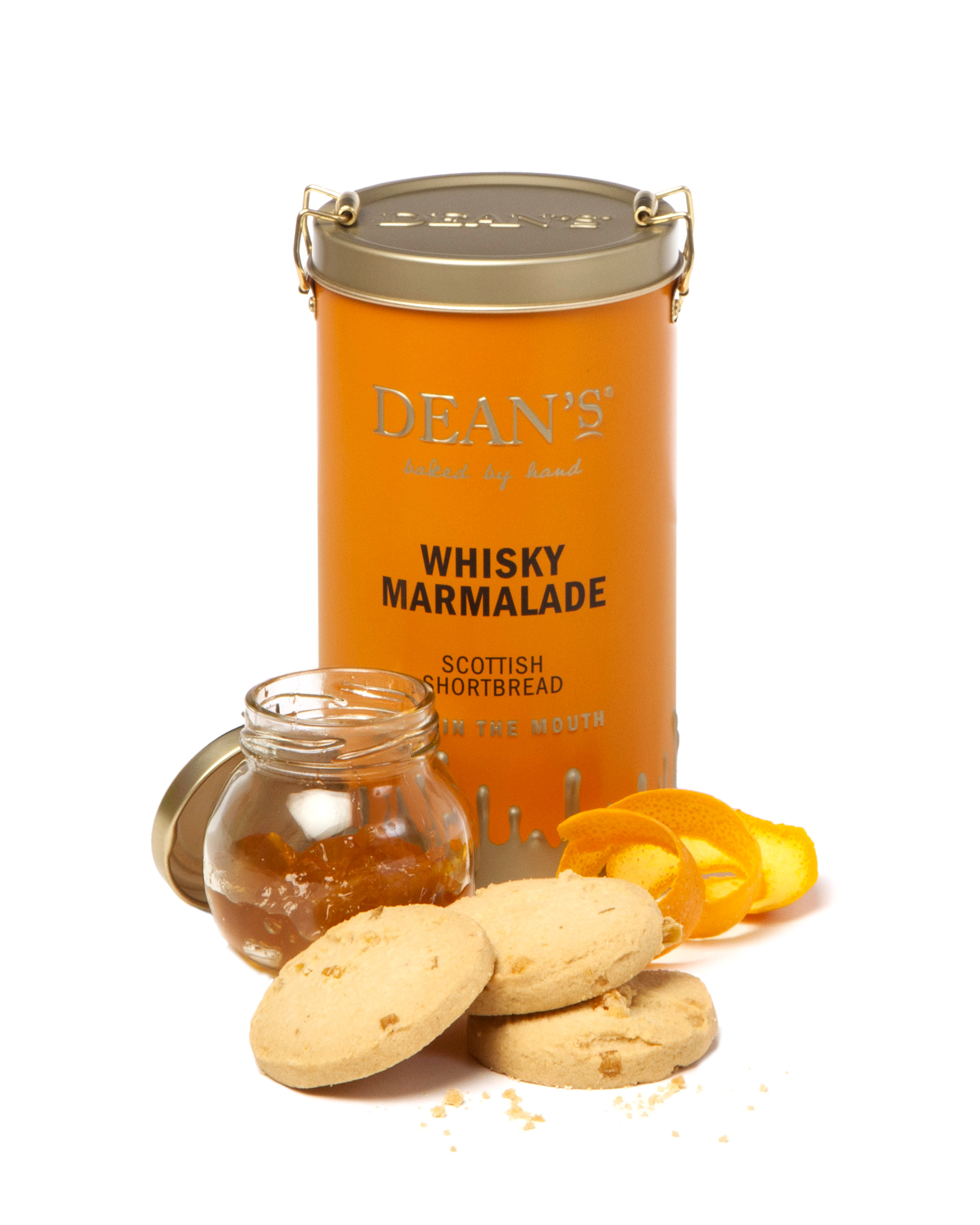 DEAN'S WHISKY MARMALADE SCOTTISH SHORTBREAD (150G)-7778