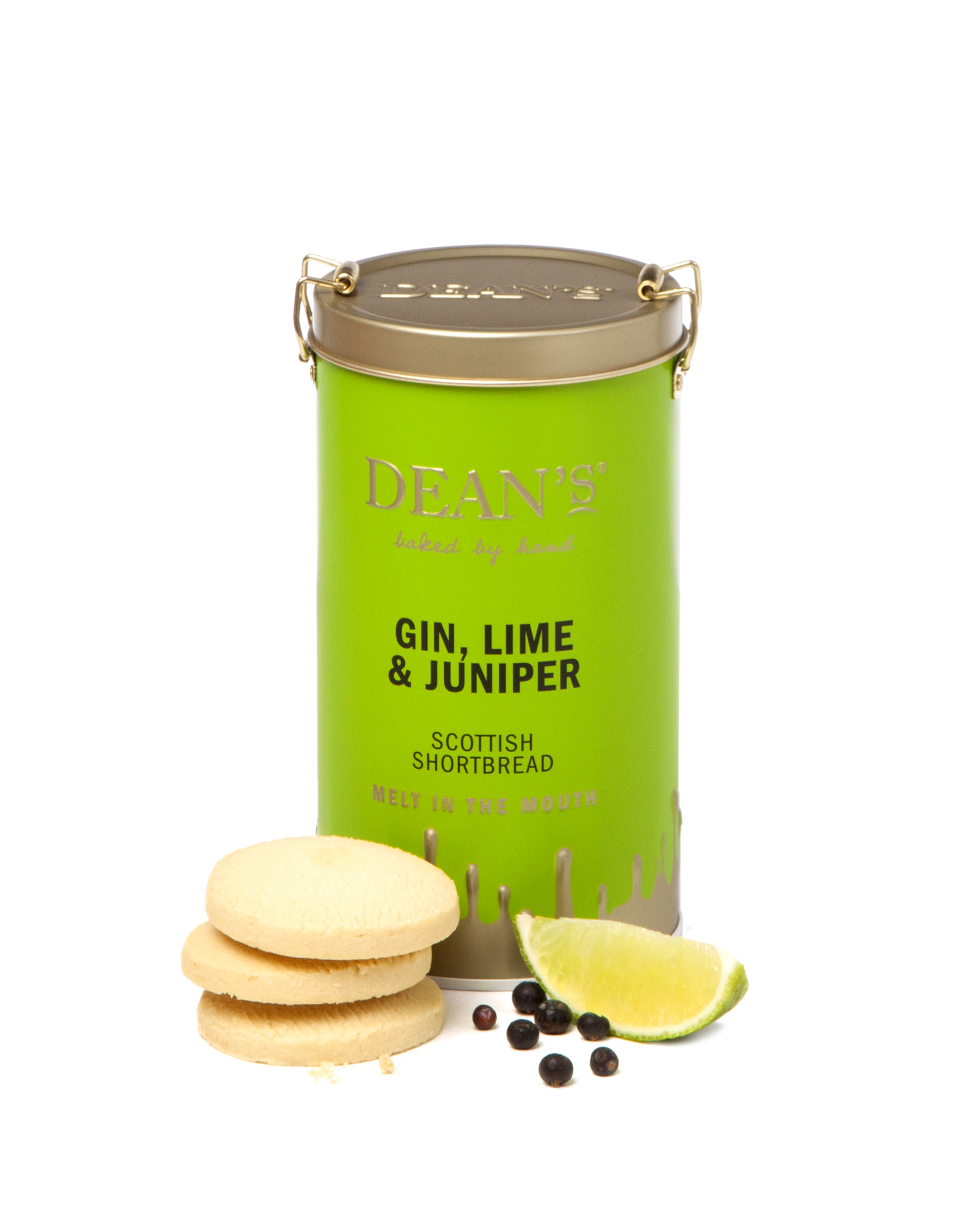 DEAN'S GIN, LIME & JUNIPER SCOTTISH SHORTBREAD (150G)-7774