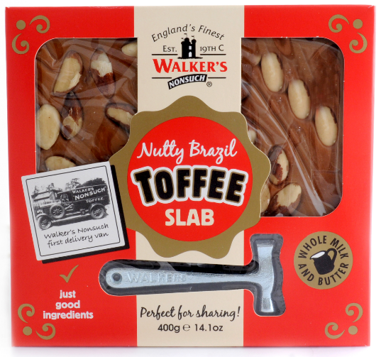 Walker's Nonsuch Nutty Brazil Toffee Slab (400g)-0