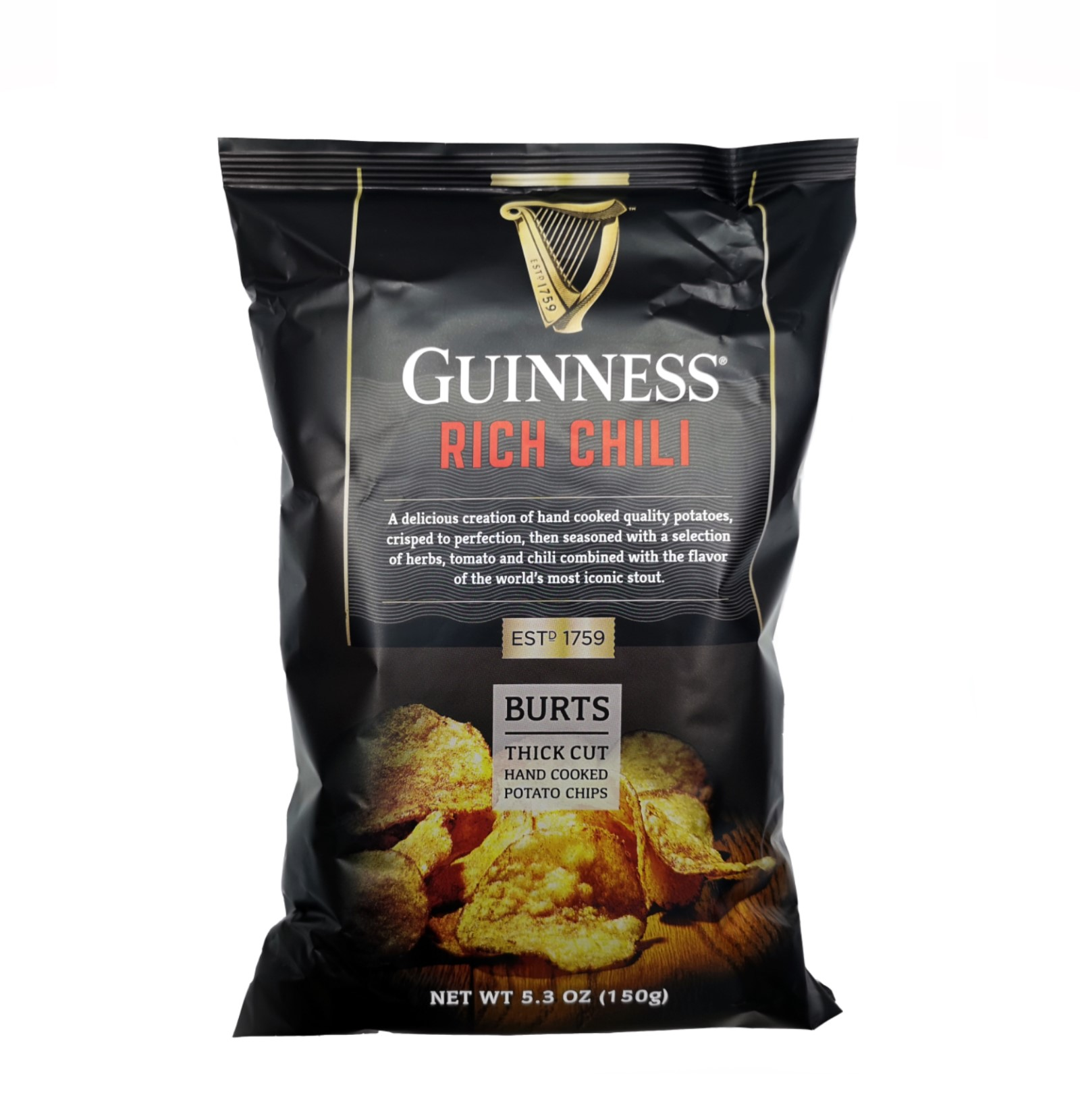 Burts Guinness Thick Cut Rich Chilli Chips (150g)-0