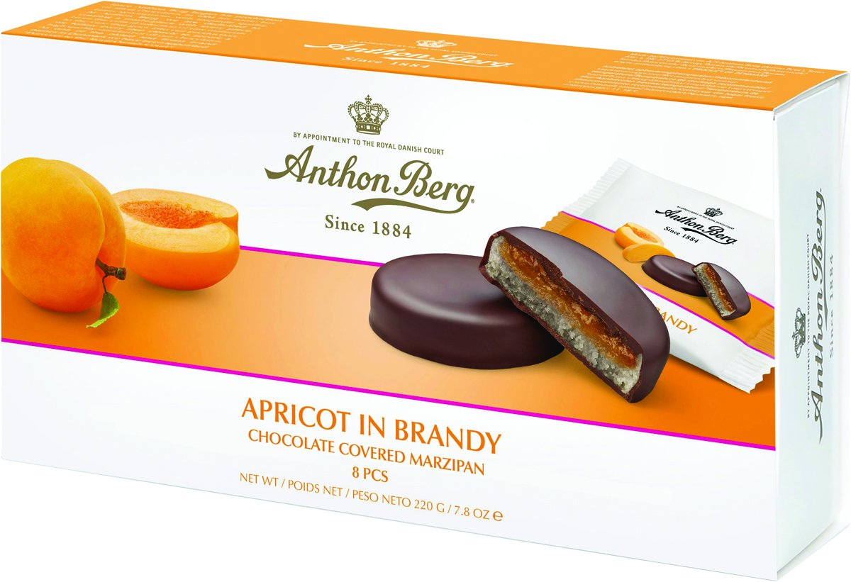 Anthon Berg APRICOT IN BRANDY Chocolate Covered Marzipan (220g)-0