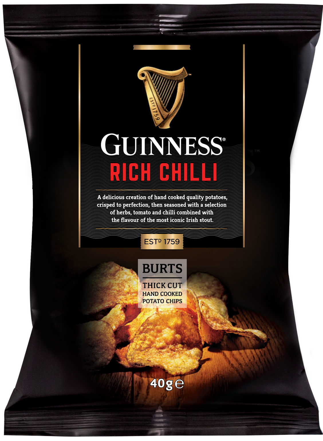 Burts Guinness Thick Cut Rich Chilli Chips (40g)-0