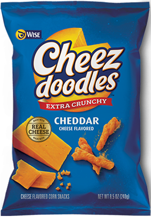 WISE CHEEZ DOODLES EXTRA CRUNCHY CHEDDAR (141G)-0