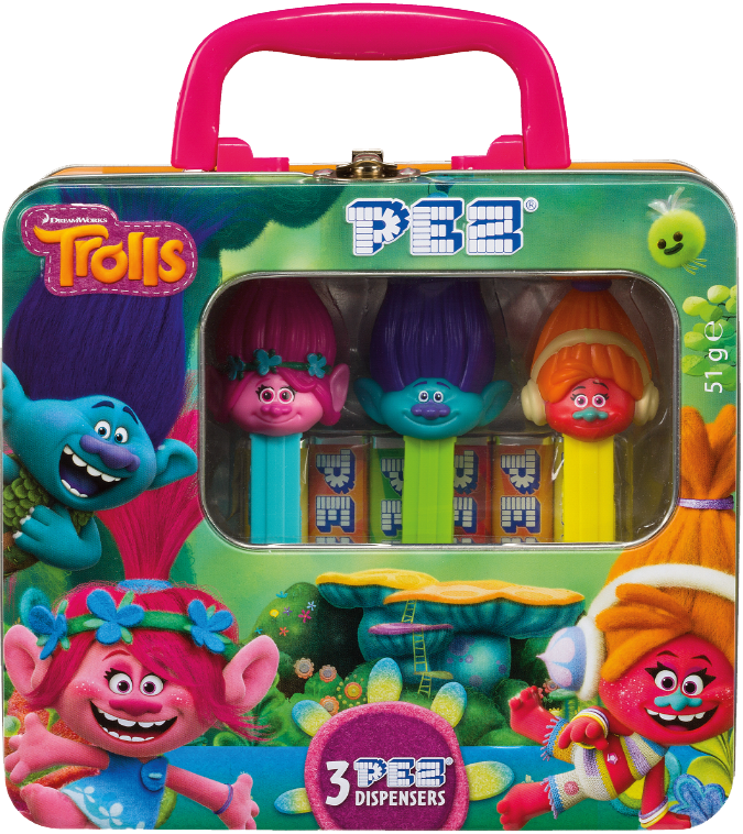 PEZ Trolls 3 Dispensers (51g)-0