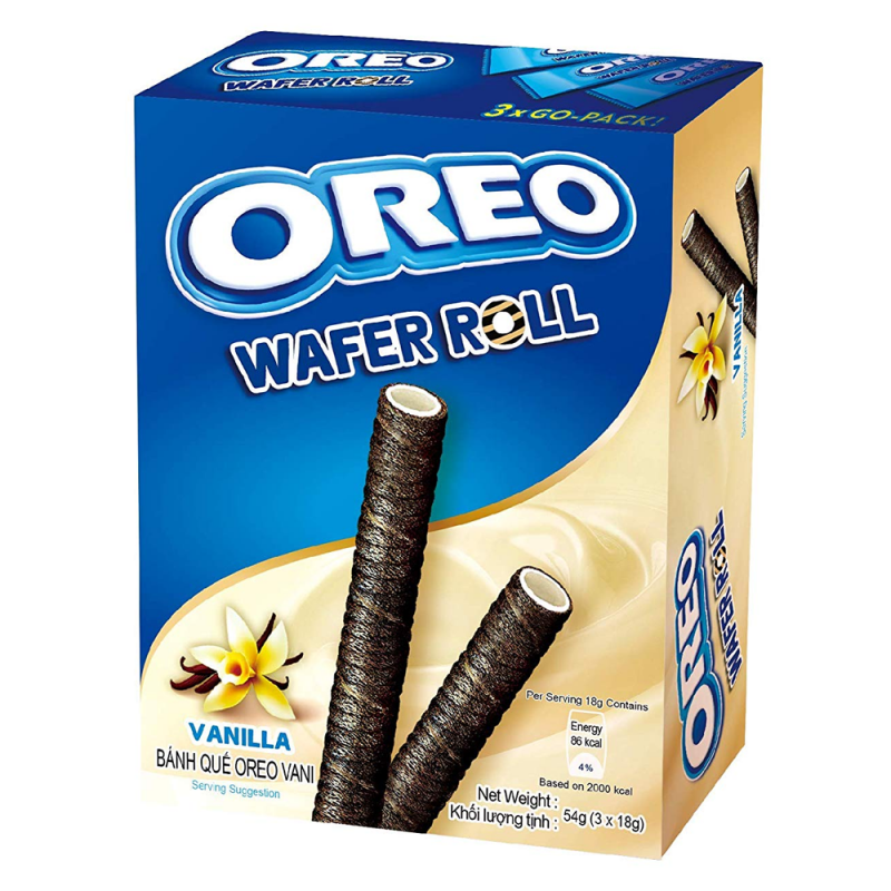 Oreo Wafer Roll Vanilla (54g)-0