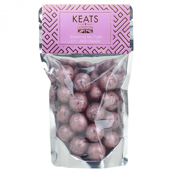 Keats Dark Chocolate Shimmering Rose Truffles (140g)-0