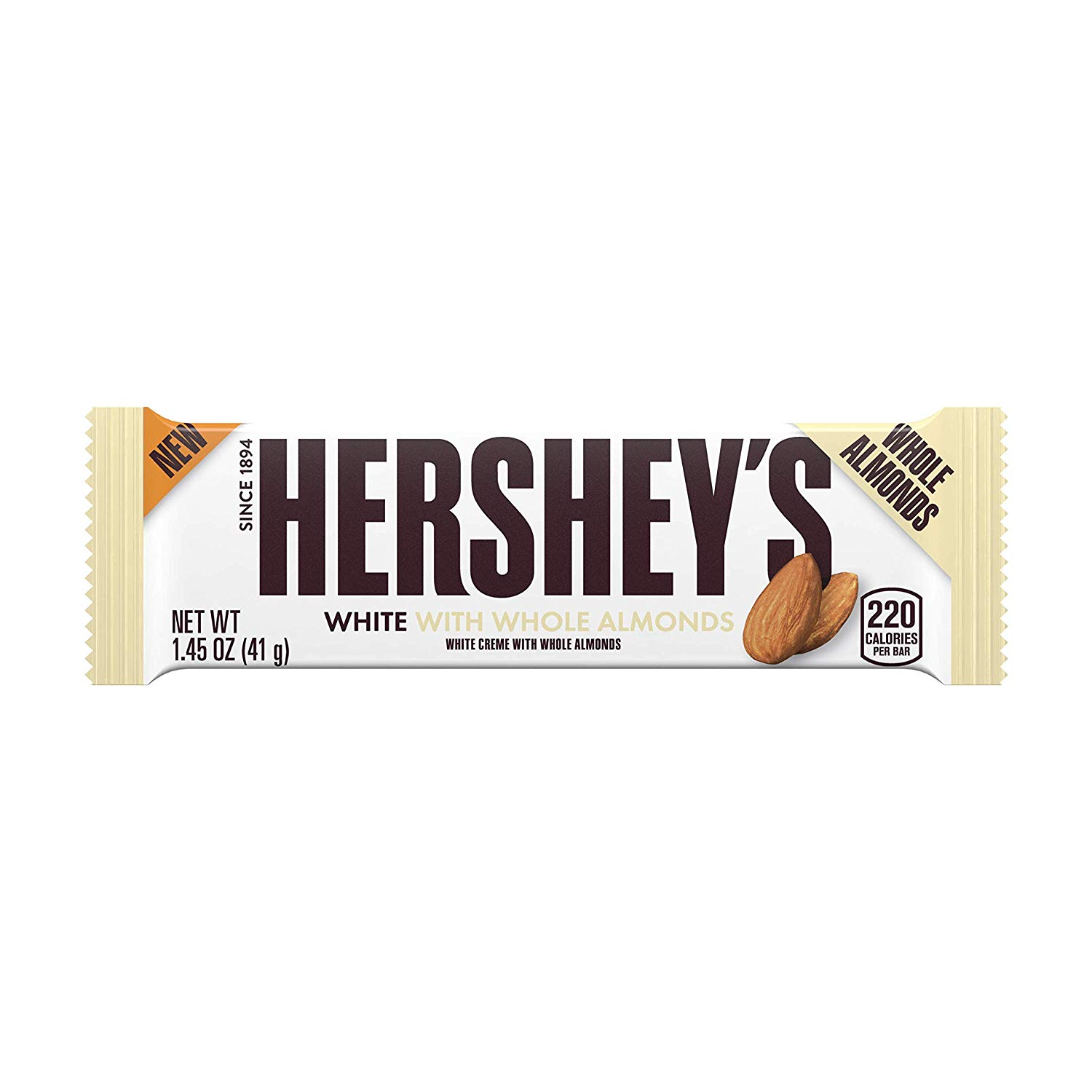 Hershey's White Creme With Whole Almonds (41g)-0