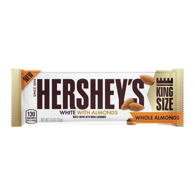 Hershey's White Creme With Whole Almonds King Size (73g)-0