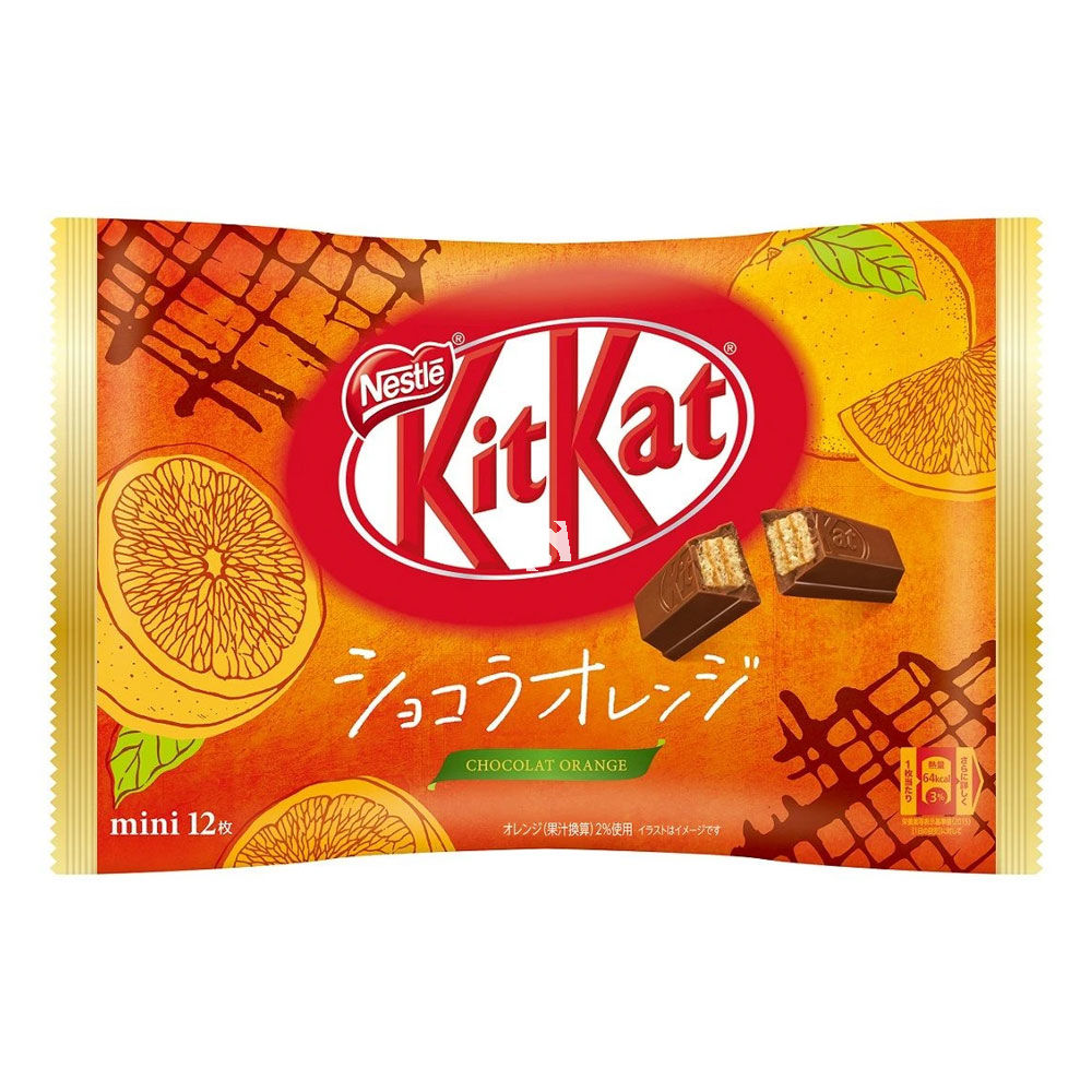 Nestle Japanese KitKat Orange Mini 12 Pieces 140g-0